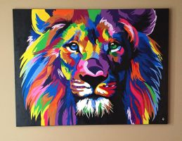 With Courage Acrylic Painting by AriaMarli