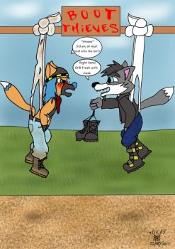 Boot Thieves by Wedgie-Fox