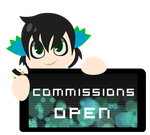 PC - Rococo Commissions Open Stamp by InkCartoon