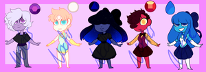 Mixed Gem Auction! (OPEN) by Astrum-Adopts
