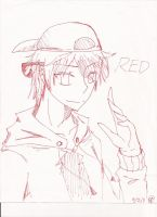 DF - Red Lineart by RadioMomo