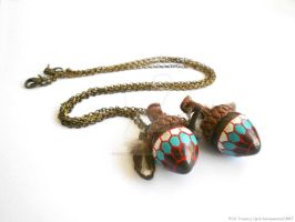 Mulgore Acorn Necklaces by Ariannasaurus