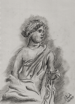 Depiction of Aphrodite of Knido by SulaimanDoodle