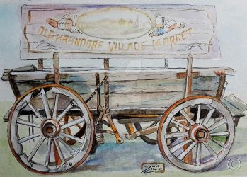 World Watercolor Month - Day 20 (Old Village Cart) by Harmony1965