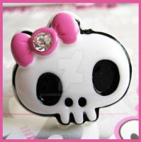 Skull Bow Ring by cherryboop