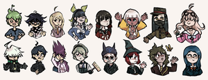 dANGANRONPA TRASH by Echacharpe