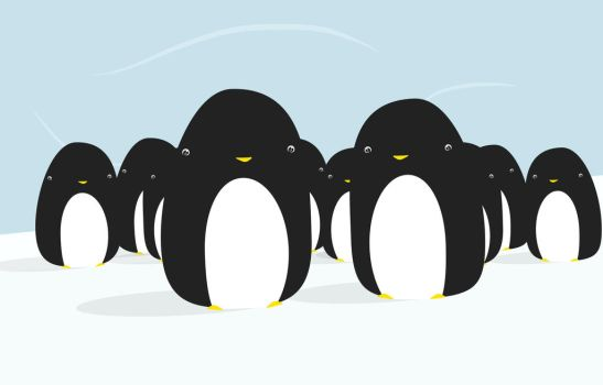 Crowd of Penguins by TommySoap