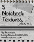 Texture Set 1- Notebooked. by LacedxRoses