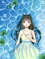 The Girl in the Water by SARITOCHAN