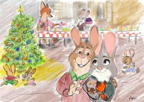 Zootopia postcard Bonnie and Stu by MurLik