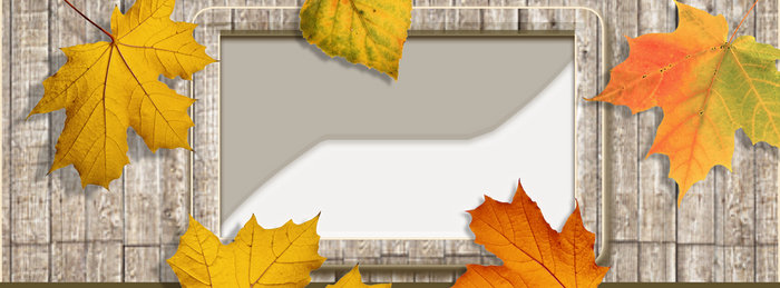 Autumn frame facebook cover PNG by silviubacky