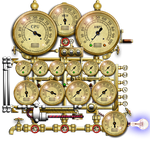 Steampunk Resource Monitor Icon by yereverluvinuncleber