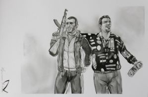 GTA IV the Bellic cousins by AndyFlash0f