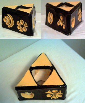 Holy Triforce - Clay Sculpture by TurtleGuy