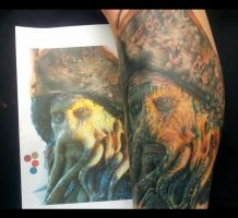Davy Jones Tattoo by sandmannder3