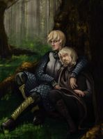 The Wench and the Kingslayer by clockwork-madness