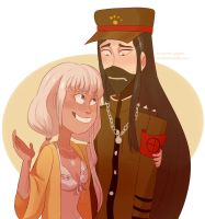 shinguji and angie by Miss-Ponytails