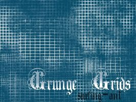 Grunge Grid Brushes by surfing-ant