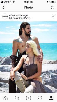 Khal Drogo and Khaleesi by johndevilman