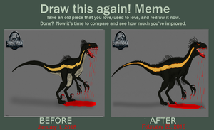Indoraptor (Draw this again meme) by TrefRex