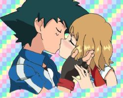 Ash and Serena Amourshipping Pokemon XY by Viper3n3n3