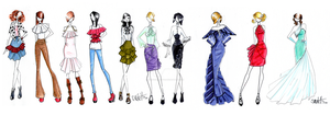 Frills and Chains Collection by SketchDrayton