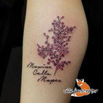 Lilac and Name Tattoo by NikkiFirestarter