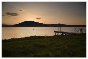 Sunset over Attersee by McFossey
