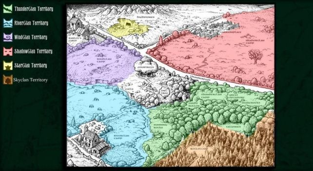 Map With SkyClan. by Dr-Strange-Is-Me