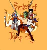 The Pirates of Jump city by megibabe