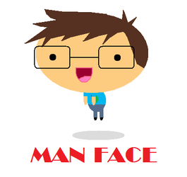 MAN FACE by Dieru