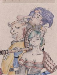 The rat, the ox and the pig. by koreya-kun