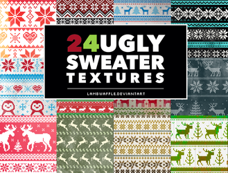 Ugly Sweater Textures by lambwaffle