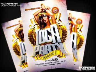 Toga Party Flyer by Industrykidz
