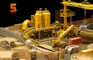 Infinity mine/ container yard extension board by SawStudios