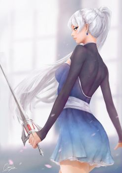 Weiss (Volume 5) - RWBY by cheesewoo