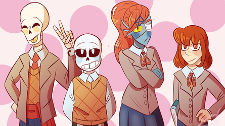 Doki Doki Undertale Club by Sheepaleepz