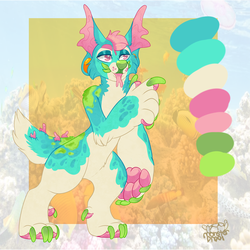 +OTA ADOPT!+ Coral Reef Dog (CLOSED) by IMonsterDrool