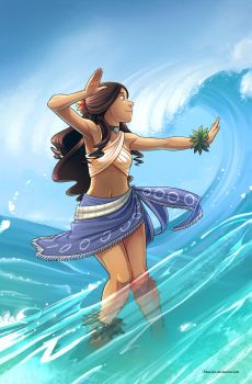 Waterbending - Hula by Blue-Ten