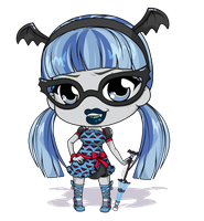 MH - Ghoulia - Freaky Fusion Inspired by Mibu-no-ookami