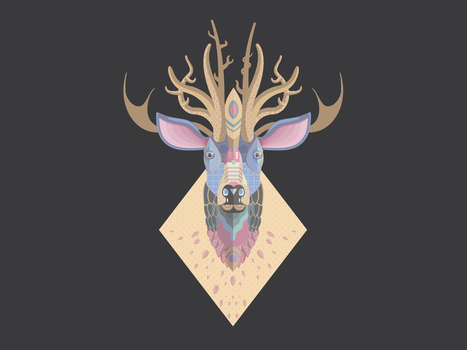 Colorful Deer by TommySoap