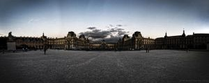 Paris- Louvre_Panorama by infiniteFinality