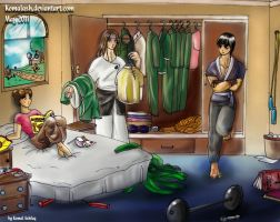 Team Gai in Rock Lee's Bedroom by Komalash