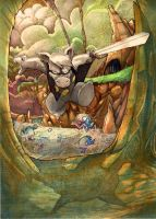Cerebus water color version by JeremyTreece