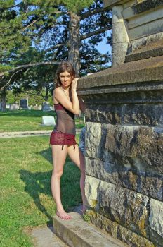 More Lingerie in Cemetery by candhphotography