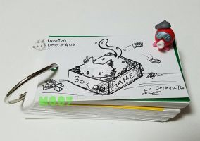 A doodle a day- board game kitty by Merc007