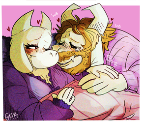 Little Asriel is coming to town by ginnydontknownothing