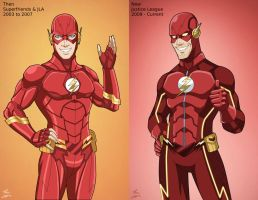 Earth-27's Flash: Then and Now by Roysovitch