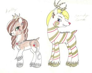 Reindeer Metalsi Adotps, POINTS ONLY, closed by Beadedwolf22