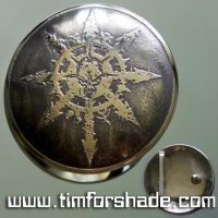 Chaos Star Chaos Mark Warhammer belt buckle by TimforShade